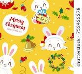 vector cartoon style winter... | Shutterstock .eps vector #752422378