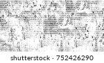vintage monochrome black and... | Shutterstock . vector #752426290