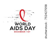1st december world aids day... | Shutterstock .eps vector #752427058