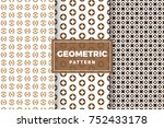 geometric pattern set. simple ... | Shutterstock .eps vector #752433178
