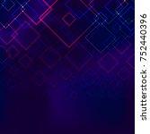 multiple square overlap network ... | Shutterstock .eps vector #752440396