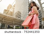 Beauty Woman With Shopping Bags ...