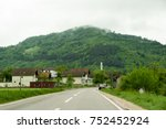the picturesque roads of bosnia ... | Shutterstock . vector #752452924
