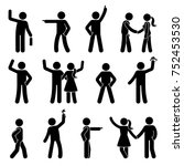 stick figure different arms... | Shutterstock .eps vector #752453530
