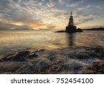 An Image Of Sea Sunrise  Near...