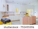 custom kitchen cabinets in... | Shutterstock . vector #752455396