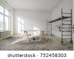 renovation   old flat during... | Shutterstock . vector #752458303