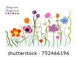 spring time colorful cute... | Shutterstock .eps vector #752466196
