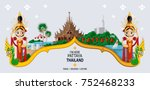 thailand travel concept   the... | Shutterstock .eps vector #752468233