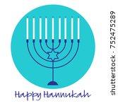 happy hannukah menorah graphic...   Shutterstock .eps vector #752475289