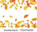 oak leaf border abstract... | Shutterstock .eps vector #752476330