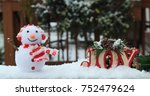 christmas peace love and joy | Shutterstock . vector #752479624