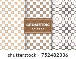 geometric pattern set. simple ...   Shutterstock .eps vector #752482336