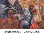 jazz singer  jazz club  jazz... | Shutterstock . vector #752490256