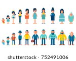set of characters in a flat... | Shutterstock .eps vector #752491006