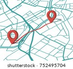 a point on the map. get... | Shutterstock .eps vector #752495704