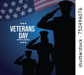 veterans day illustration. eps... | Shutterstock .eps vector #752496076