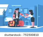 rent apartment or room. man... | Shutterstock .eps vector #752500810
