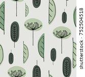 scandinavian hand drawn...   Shutterstock .eps vector #752504518