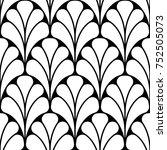 vector seamless pattern. modern ... | Shutterstock .eps vector #752505073
