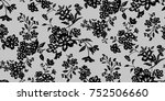 seamless floral pattern in... | Shutterstock .eps vector #752506660