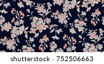 seamless floral pattern in... | Shutterstock .eps vector #752506663