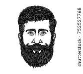 bearded man head isolated on...   Shutterstock . vector #752527768