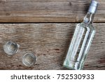 vodka luxury. vodka in a bottle ... | Shutterstock . vector #752530933