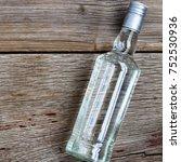 vodka luxury. vodka in a bottle ...   Shutterstock . vector #752530936