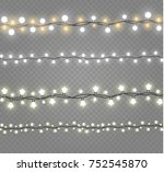 christmas lights isolated on... | Shutterstock .eps vector #752545870