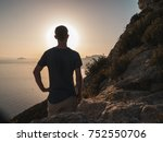 young man standing on top of a... | Shutterstock . vector #752550706