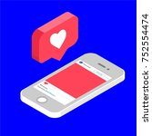 instagram like  isometric icon  ... | Shutterstock .eps vector #752554474