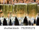 champagne in champagne flutes | Shutterstock . vector #752555173