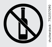 no alcohol icon  alcohol... | Shutterstock .eps vector #752557090