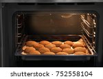 baking tray with delicious... | Shutterstock . vector #752558104