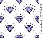 diamond seamless doodle pattern | Shutterstock .eps vector #752566174