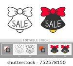 bell  jingle sale ring linear... | Shutterstock .eps vector #752578150