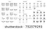 various types of screws and... | Shutterstock .eps vector #752579293