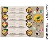 menu ramen noodle japanese food ... | Shutterstock .eps vector #752608990