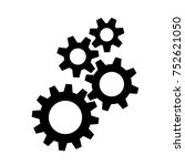 gear icon vector   Shutterstock .eps vector #752621050