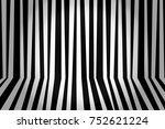 monochrome background striped... | Shutterstock . vector #752621224