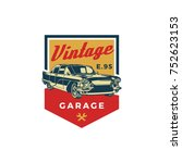 colored old retro style vintage ... | Shutterstock .eps vector #752623153