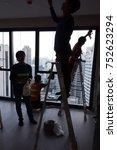 Small photo of 11 November, 2017, construction inertia work at Bangkok condominium in Thailand