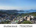 overview of jiufen city | Shutterstock . vector #752623564