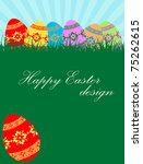 background with easter eggs and ... | Shutterstock .eps vector #75262615