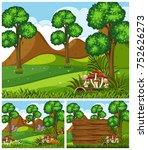 mountain scenes with...   Shutterstock .eps vector #752626273