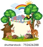 border template with cute... | Shutterstock .eps vector #752626288