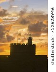 agios nikolaos fortress on the... | Shutterstock . vector #752628946