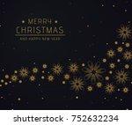 christmas background black | Shutterstock .eps vector #752632234