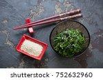 Bowl Of Seaweed Salad With...